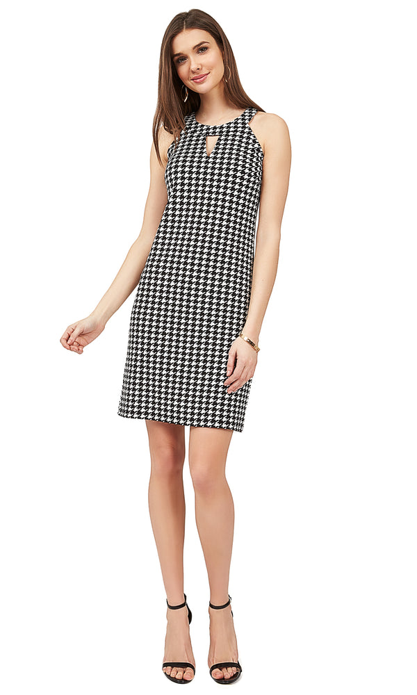 Houndstooth Halter Dress