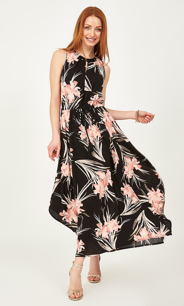 Sleeveless Printed Maxi Dress