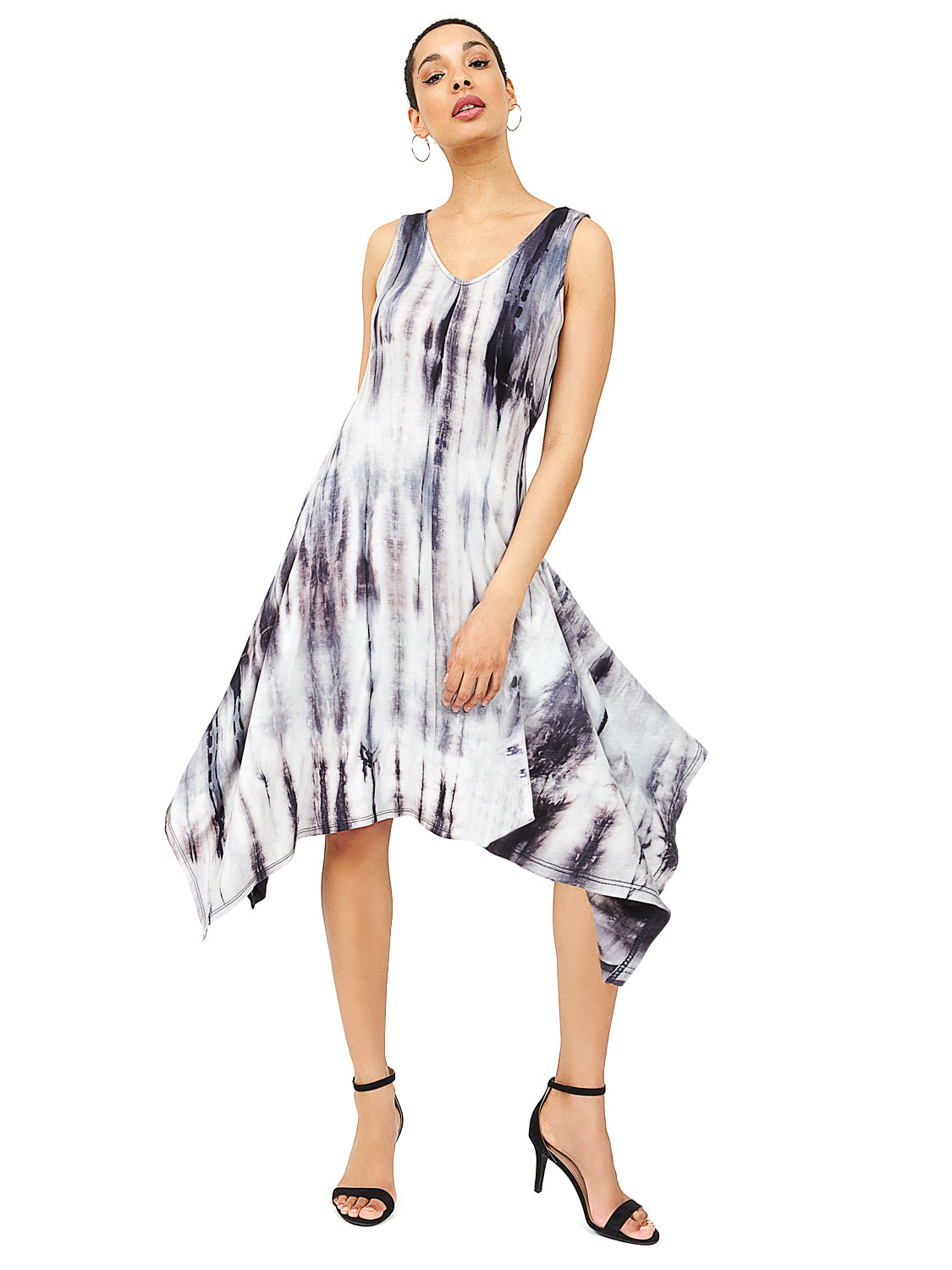 Tie-Dye Sharkbite Hem Dress