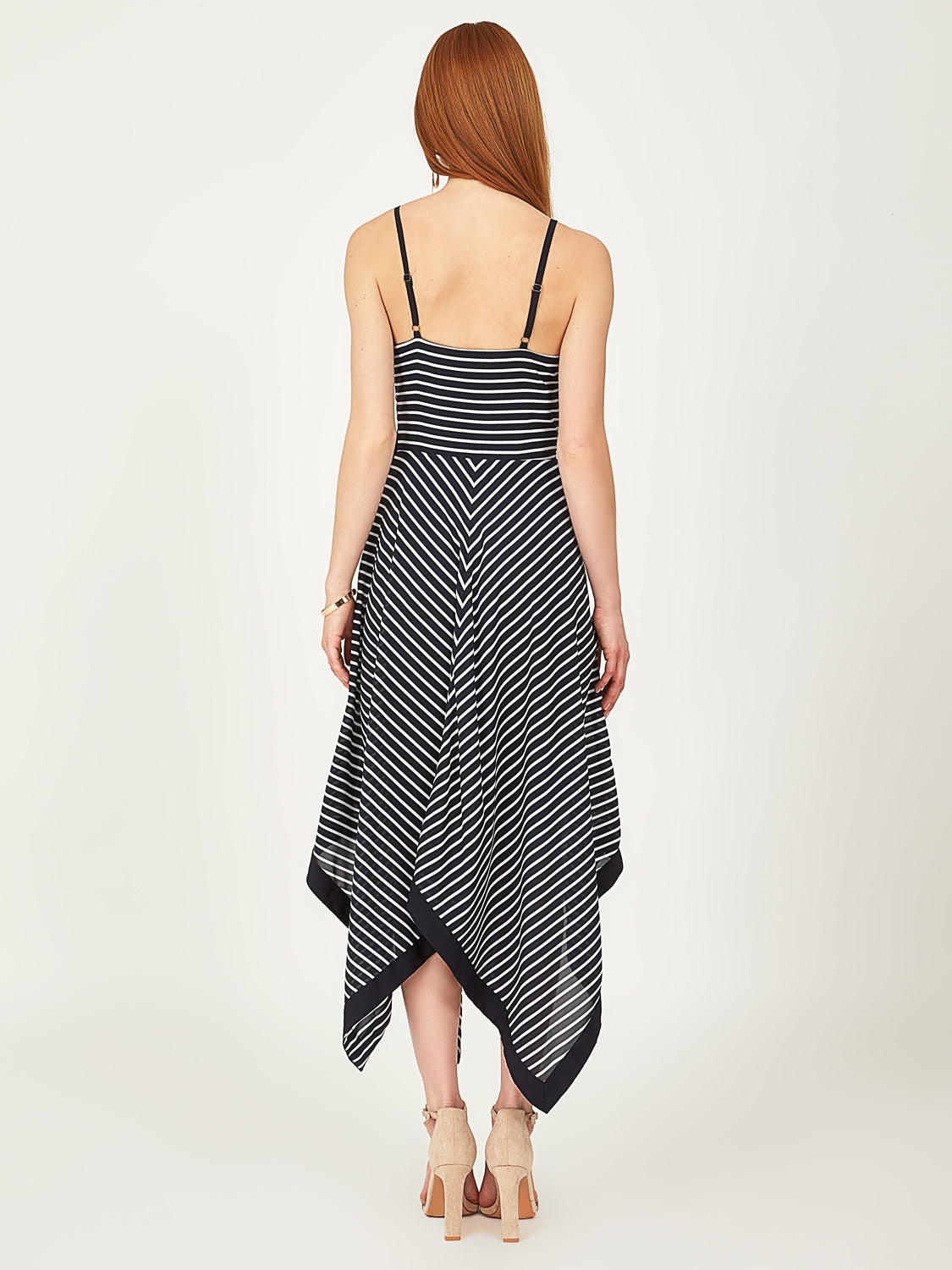 Striped Handkerchief Hem Dress