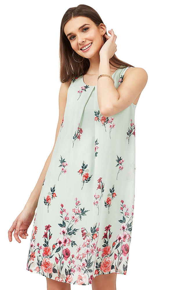 Fit & Flare Floral Sheath Dress