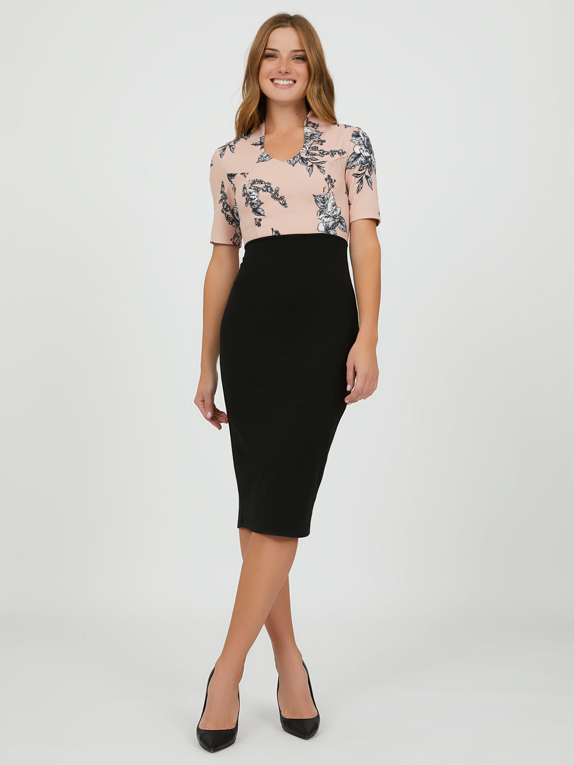 2-fer Midi Sheath Dress