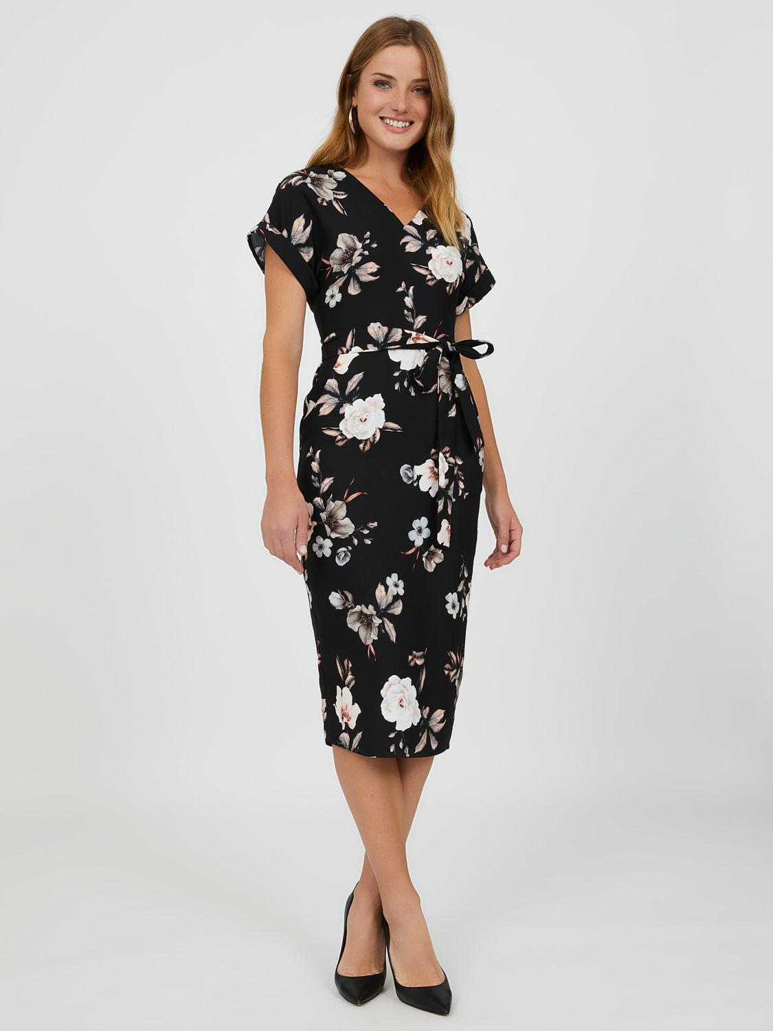 Floral Midi Sheath Dress
