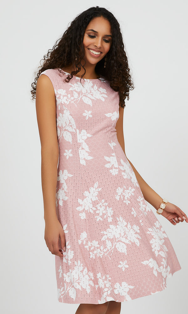 Sleeveless Fit & Flare Floral Dress