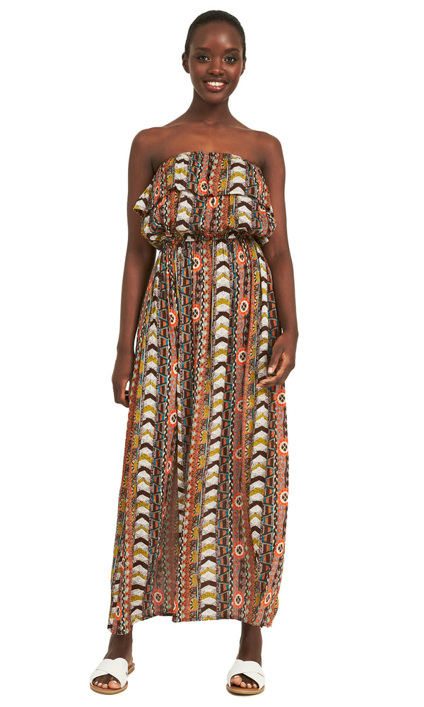 9b6ad8405d Strapless Tribal Print Dress Strapless Tribal Print Dress