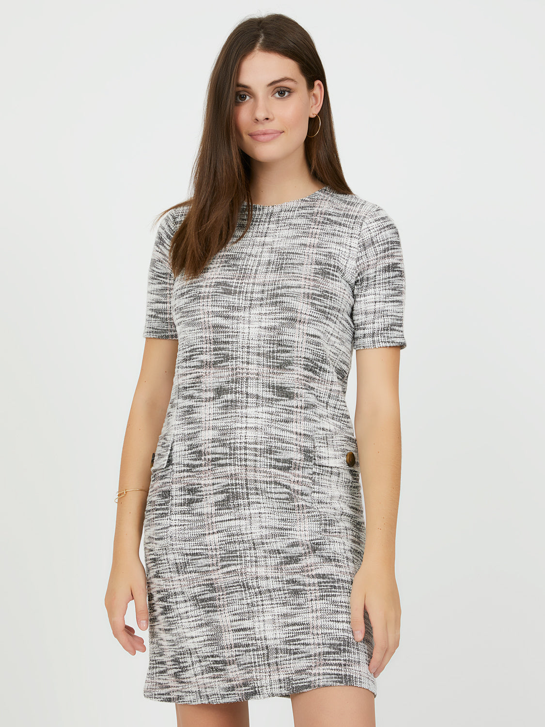 Knit Jacquard Sheath Dress
