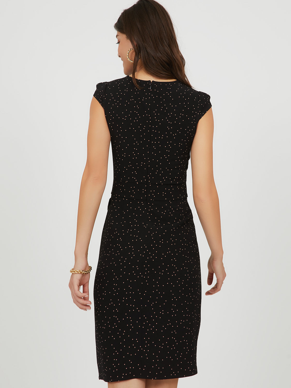 Scatter Dot Sheath Mini Dress