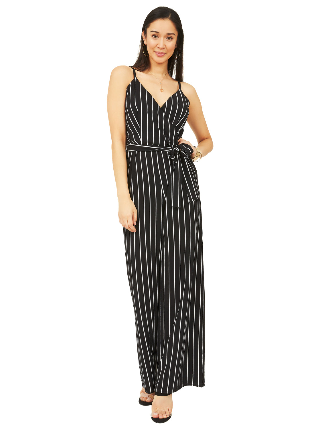 e79e85edfc Striped Belted Jumpsuit Striped Belted Jumpsuit