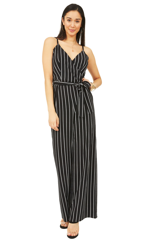 e0a855b22968 Striped Belted Jumpsuit Striped Belted Jumpsuit