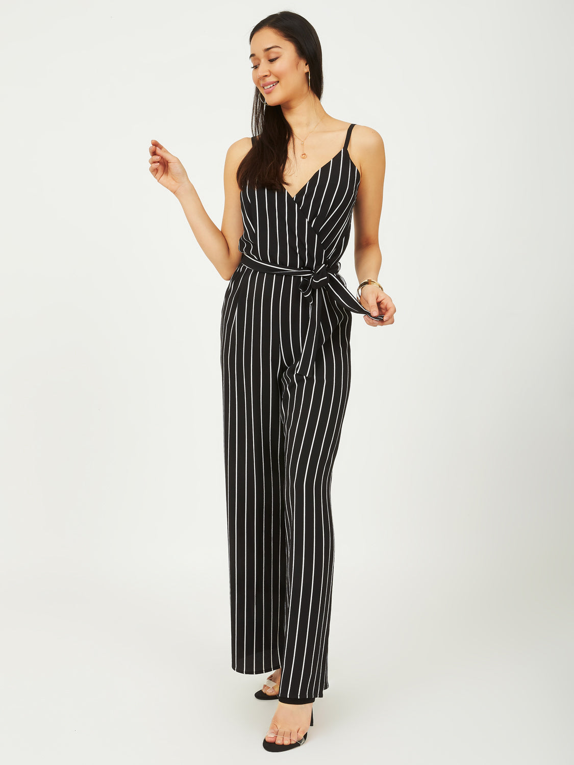 4f74803131b Striped Belted Jumpsuit ...