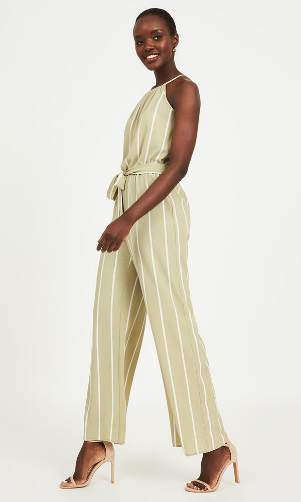Striped Halter Jumpsuit