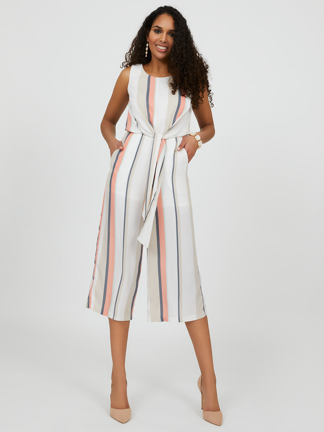 Striped Gaucho Jumpsuit