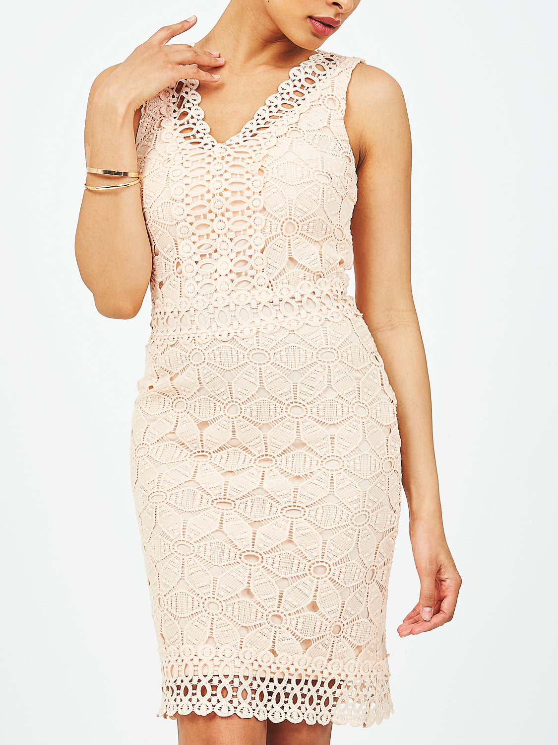 Crochet Lace V-Neck Dress