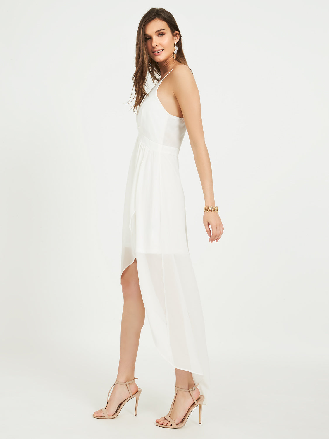Sleeveless High-Low Dress