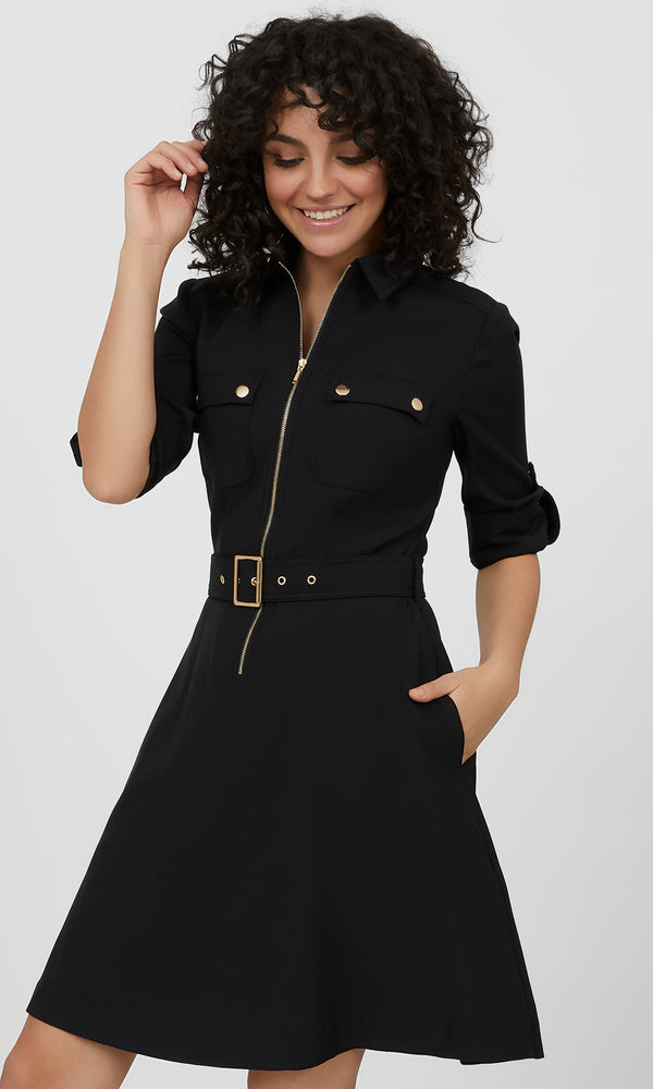 Modern Utility Shirtdress