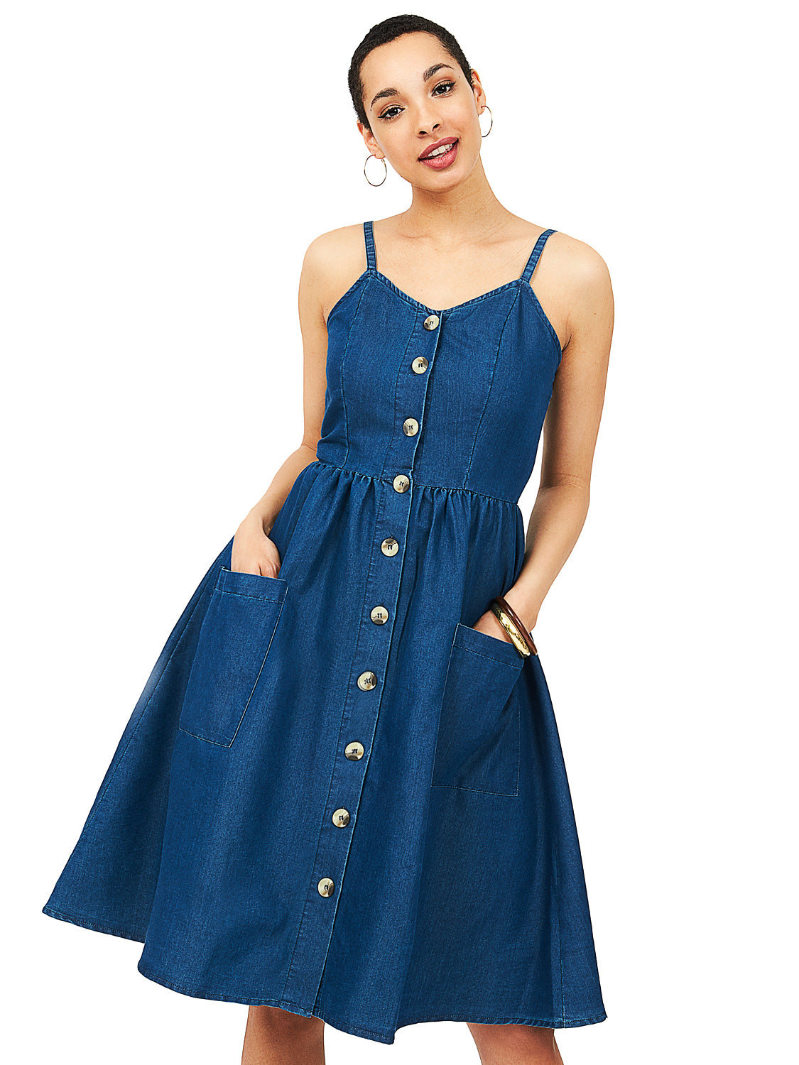 4a2608024db2 Denim Midi Dress