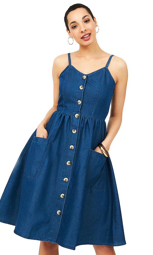 36b0d9fea39 Denim Midi Dress Denim Midi Dress