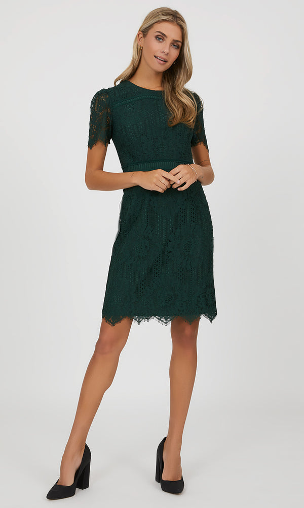 Lace Sheath Mini Dress