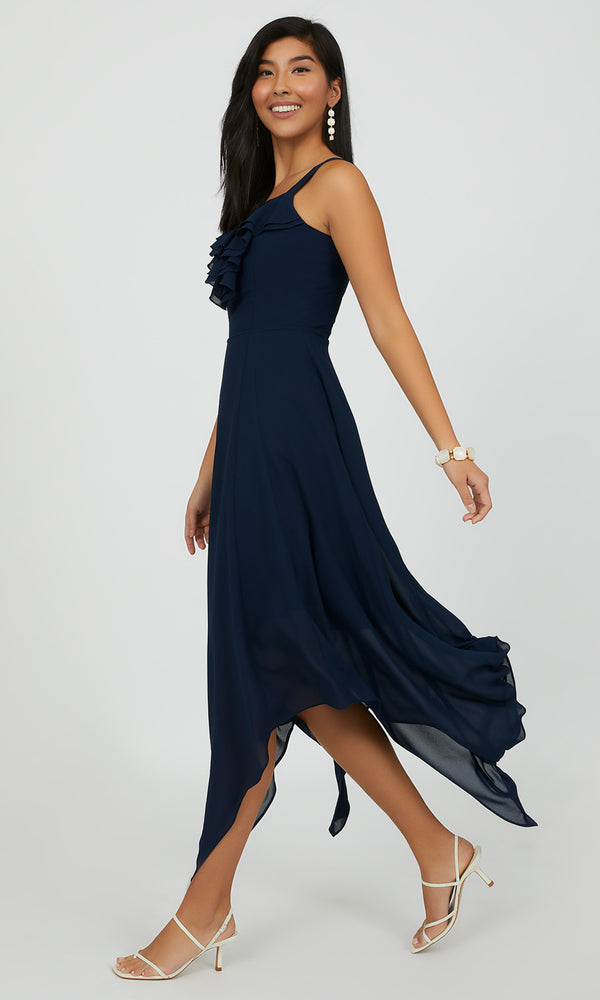 Ruffle Handkerchief Dress