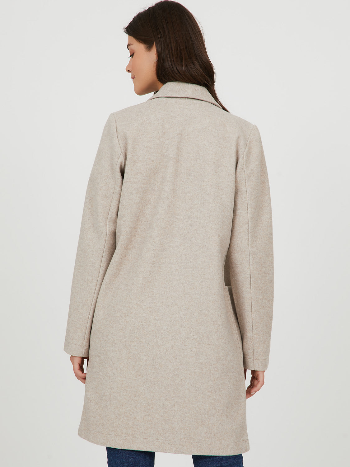 Fleece Shawl Collar Knit Jacket