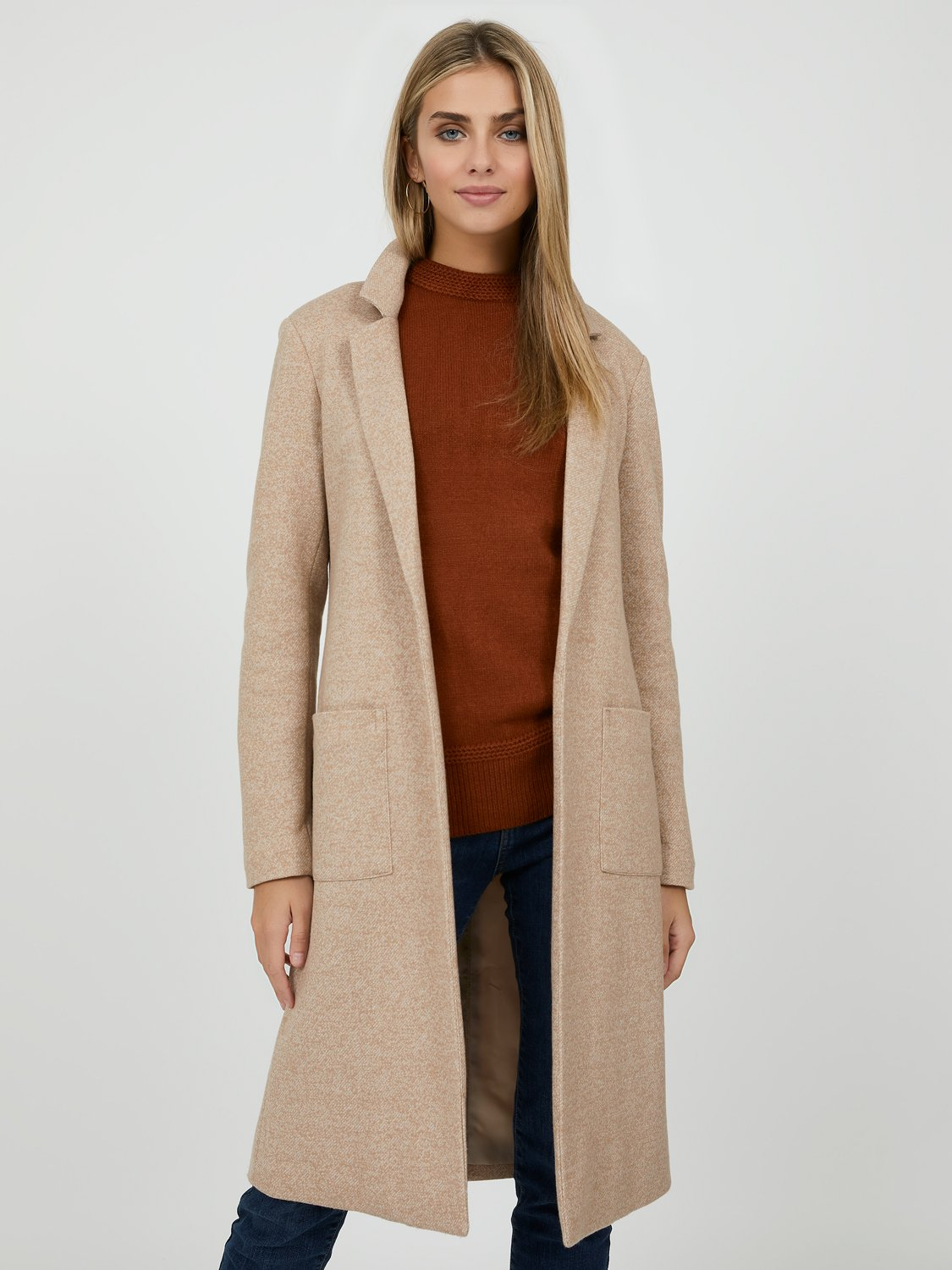 Menswear-Inspired Notch Collar Coat
