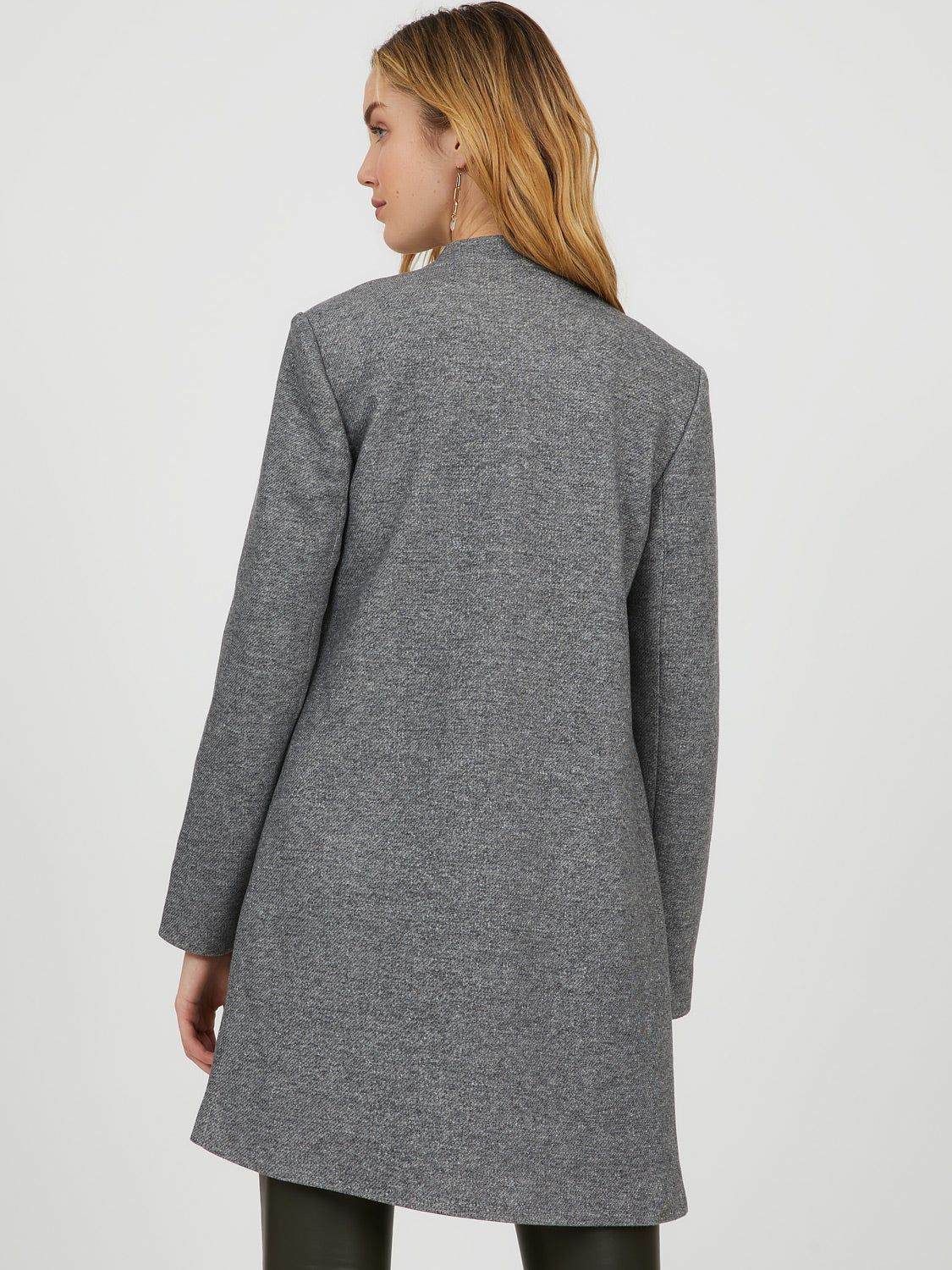 Notch Collar Fleece Car Coat