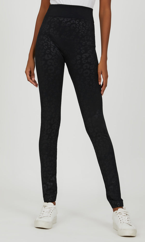 Embossed Leopard Fleece Legging