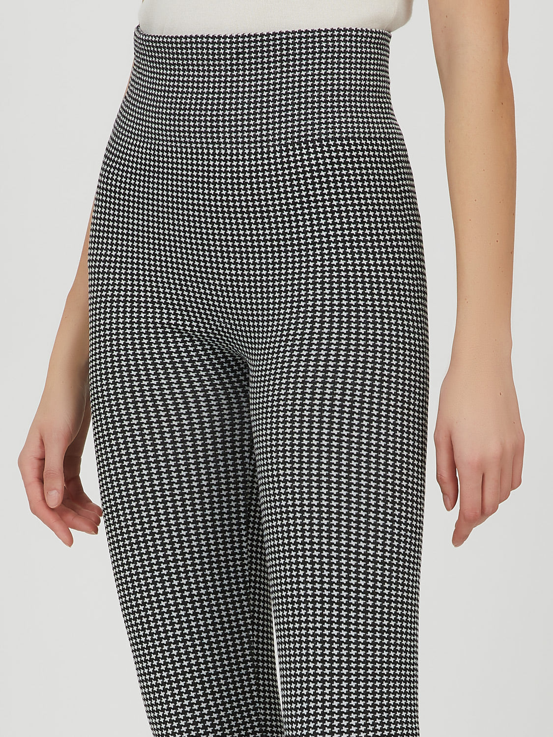 Houndstooth Fleece Legging