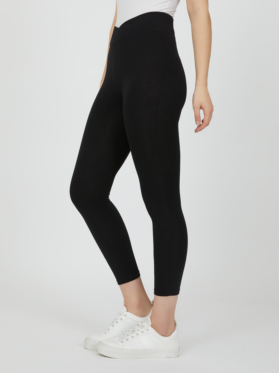 Cotton-Blend Capri leggings