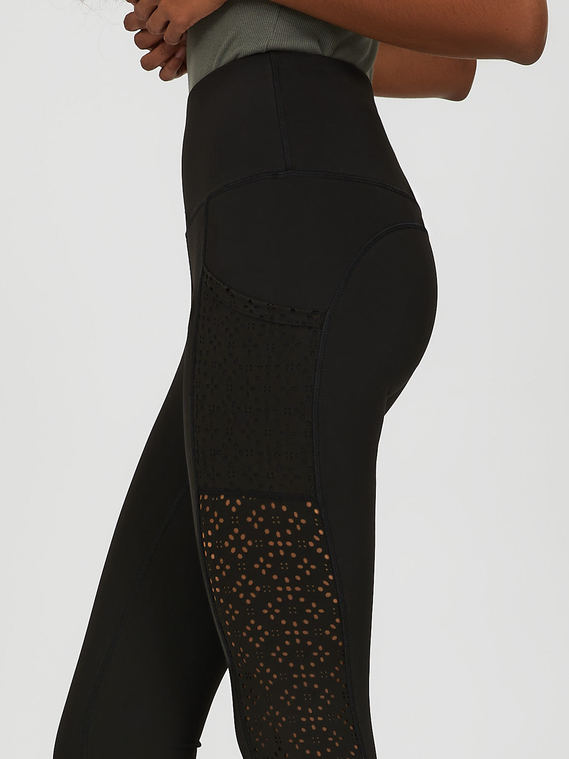 Laser Cut Knit Legging