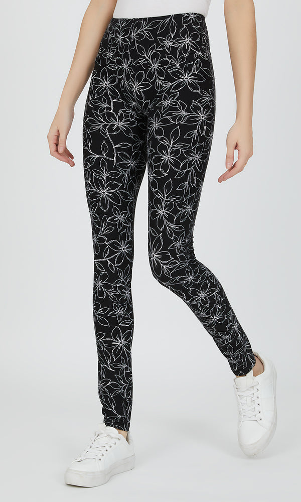 Floral Knit Legging