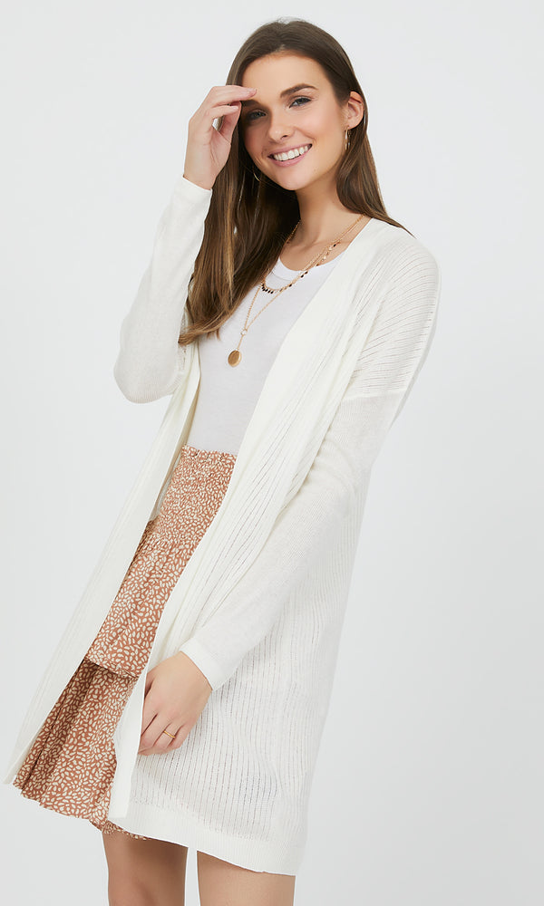 Long Shadow Stripe Cardigan