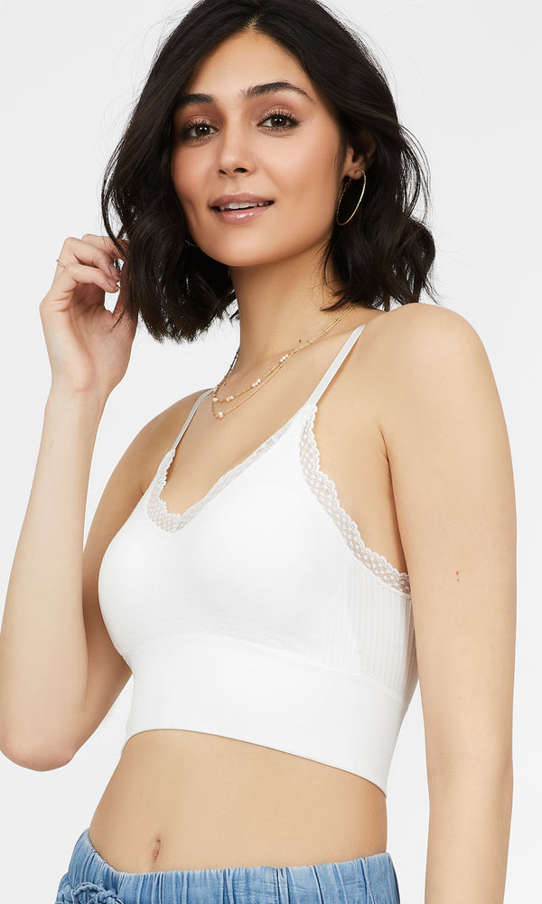 Adjustable Strap Lace Trim Bralette