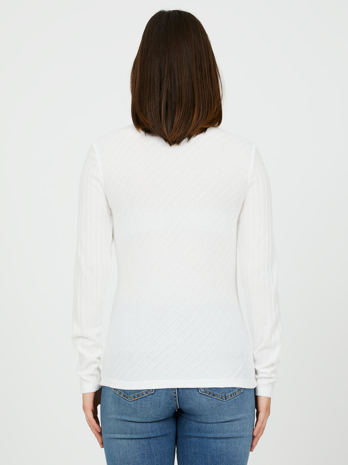 Rib Knit Mock Neck Top