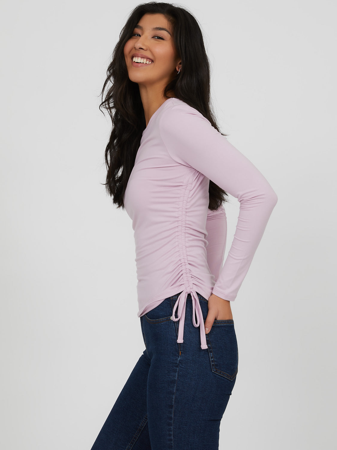 Ruched Knit Top
