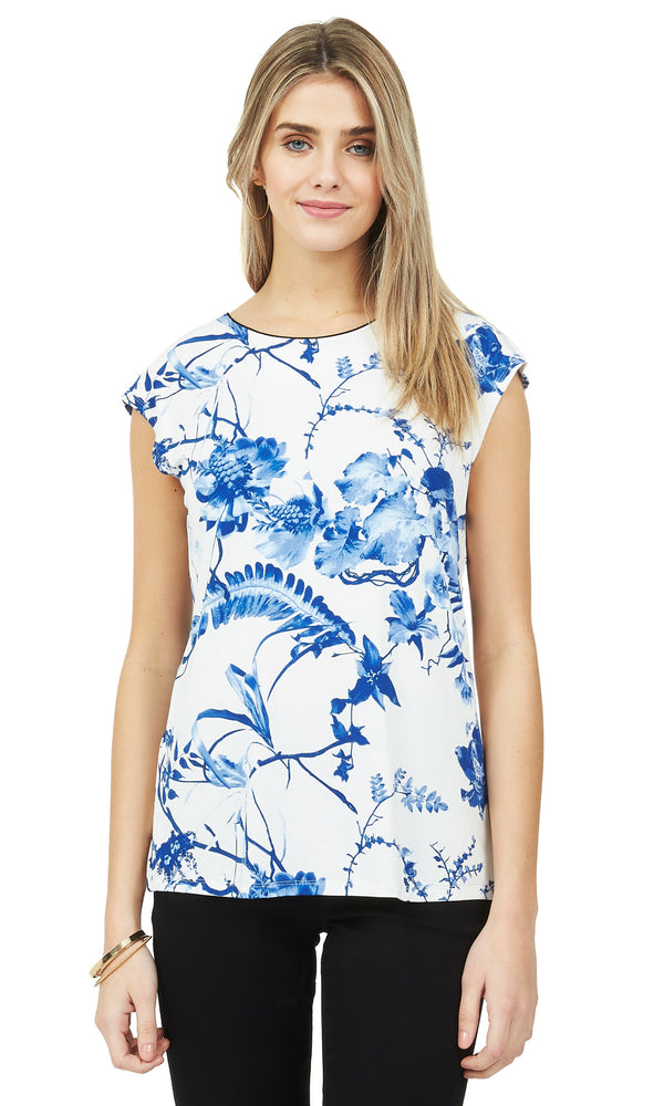 db98a338806a86 Printed Back Bow Top Printed Back Bow Top