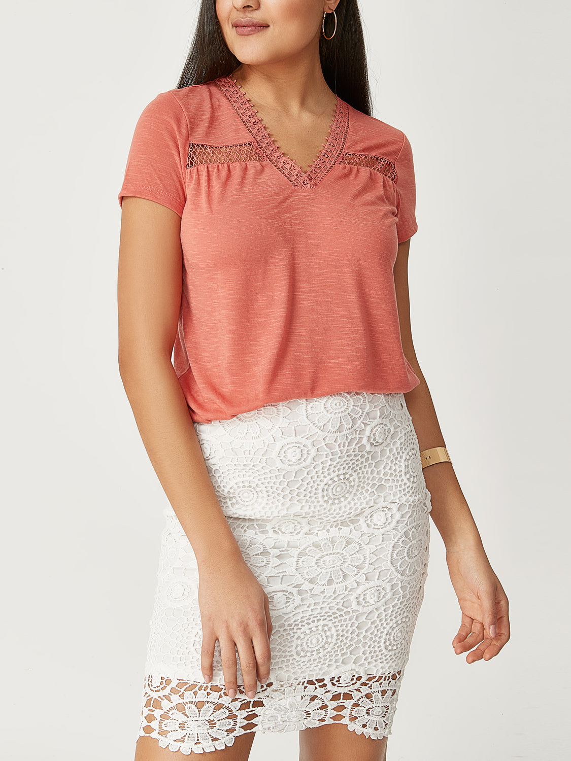 Crochet Short Sleeve T-Shirt