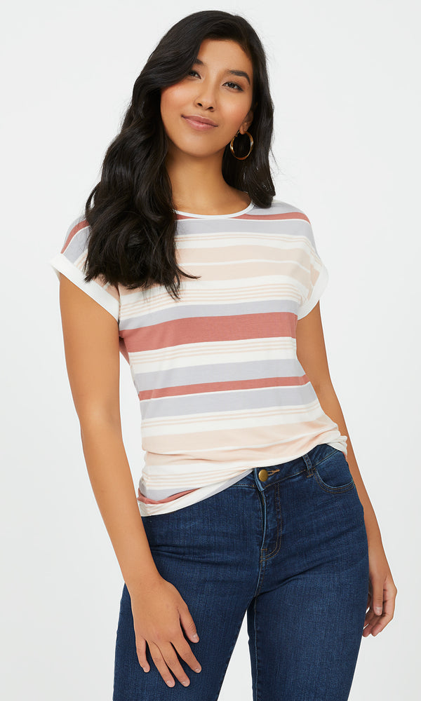 Striped Crew Neck Tee
