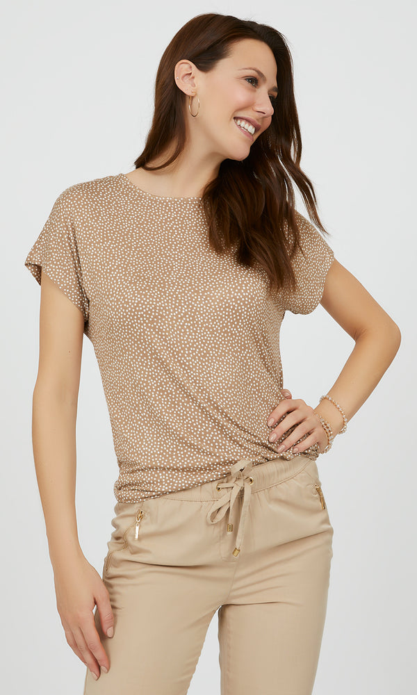 Short Sleeve Polka Dot Tee