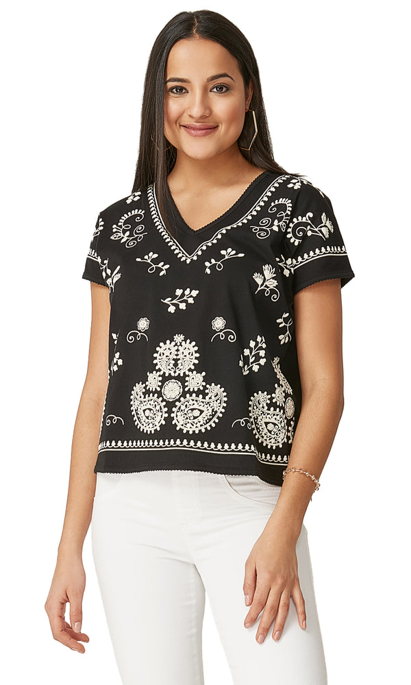 Puff Print Short Sleeve Top