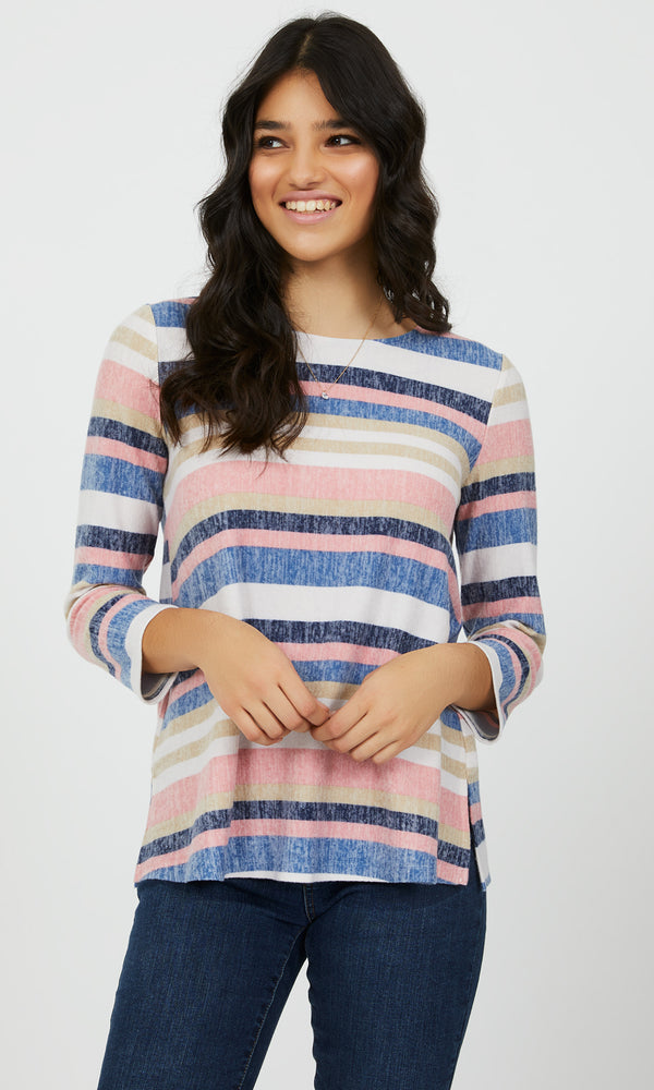 Multi-Coloured Stripe Top