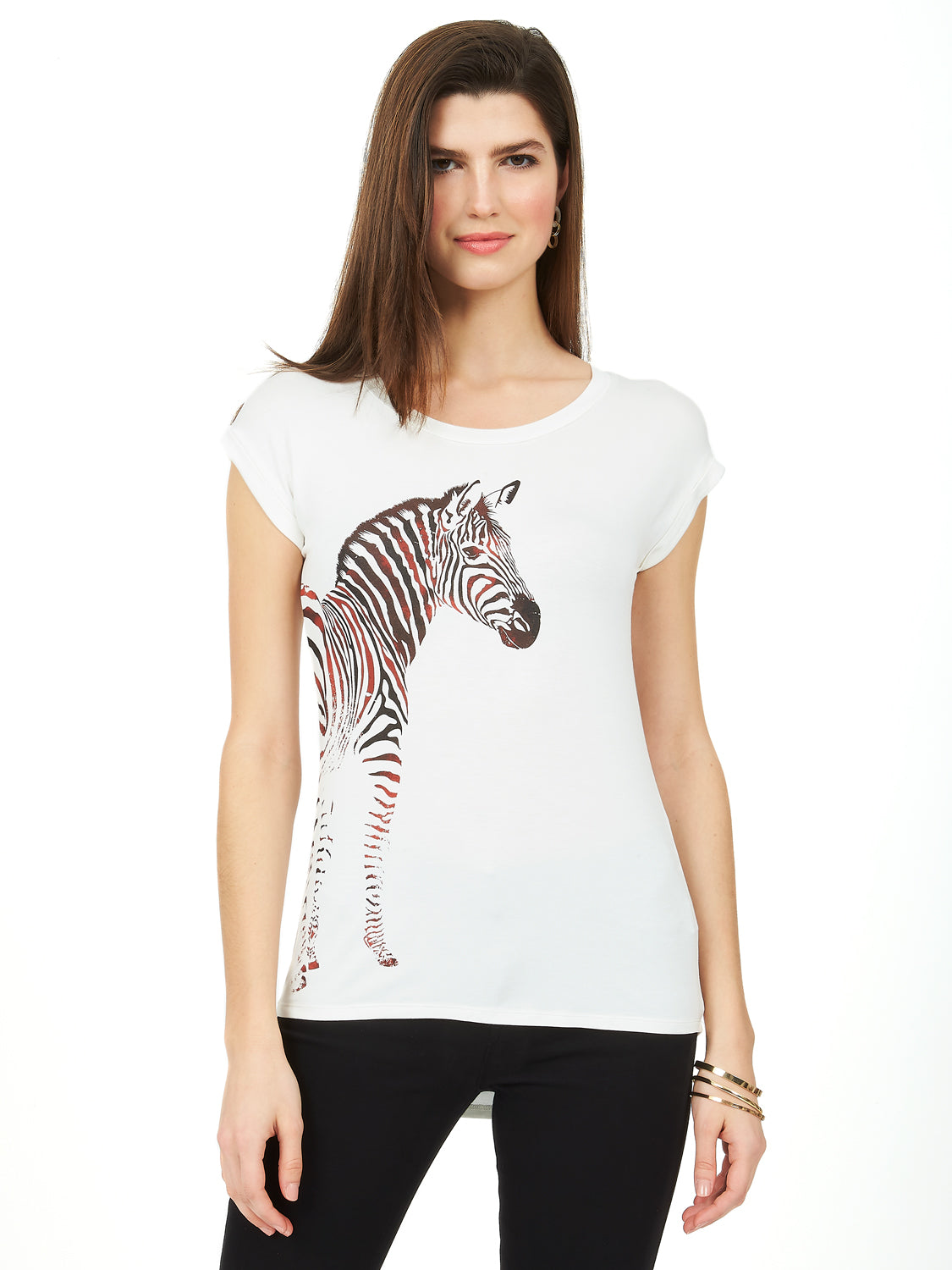 Short Sleeve Zebra T-Shirt