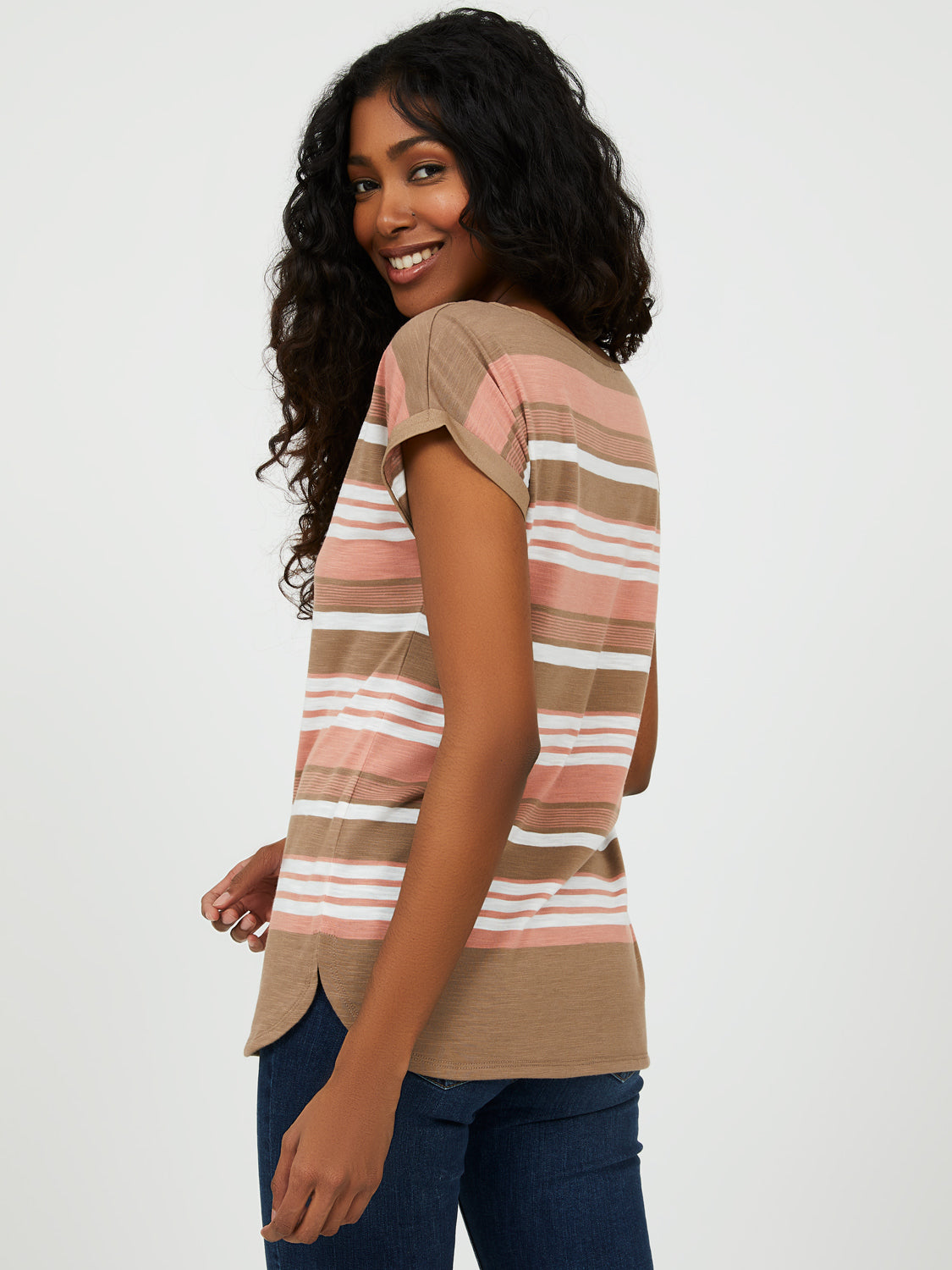 Variegated Striped Tee