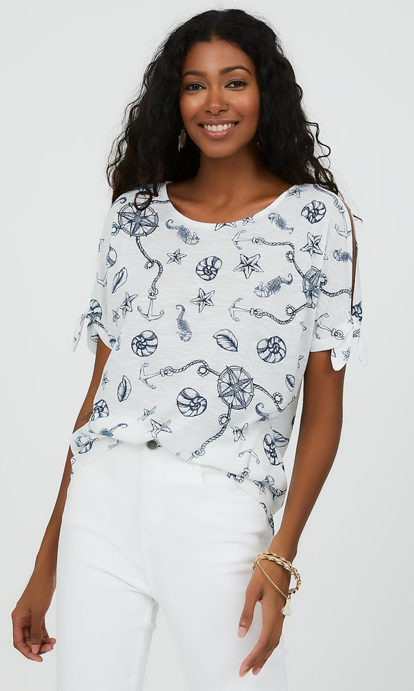 Short Sleeve Nautical Tee