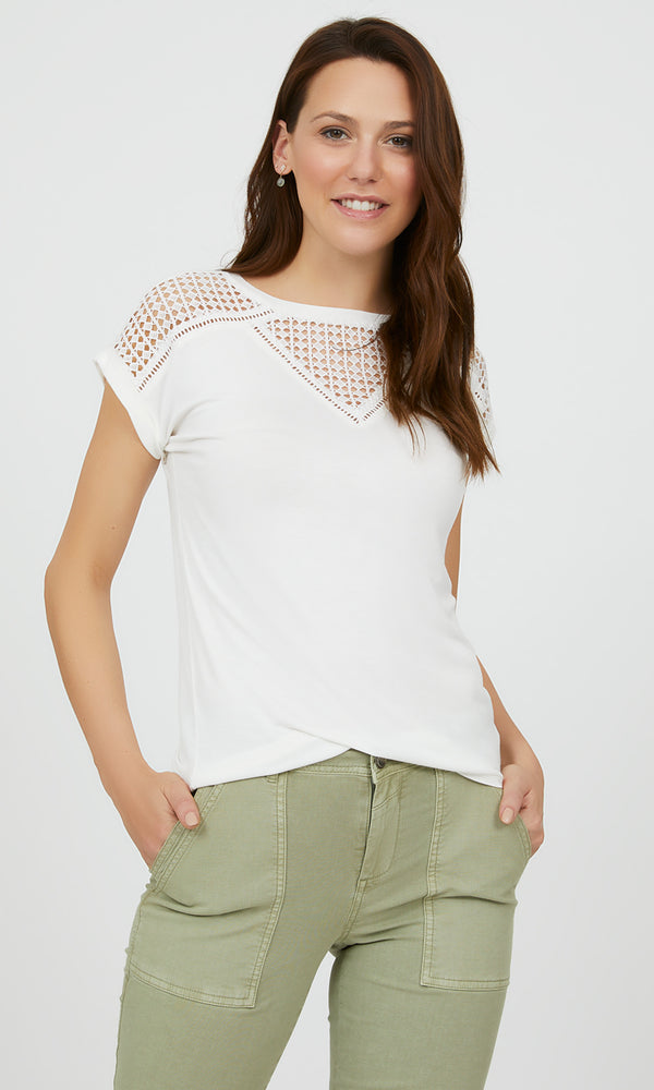 Short Dolman Sleeve Crochet Top