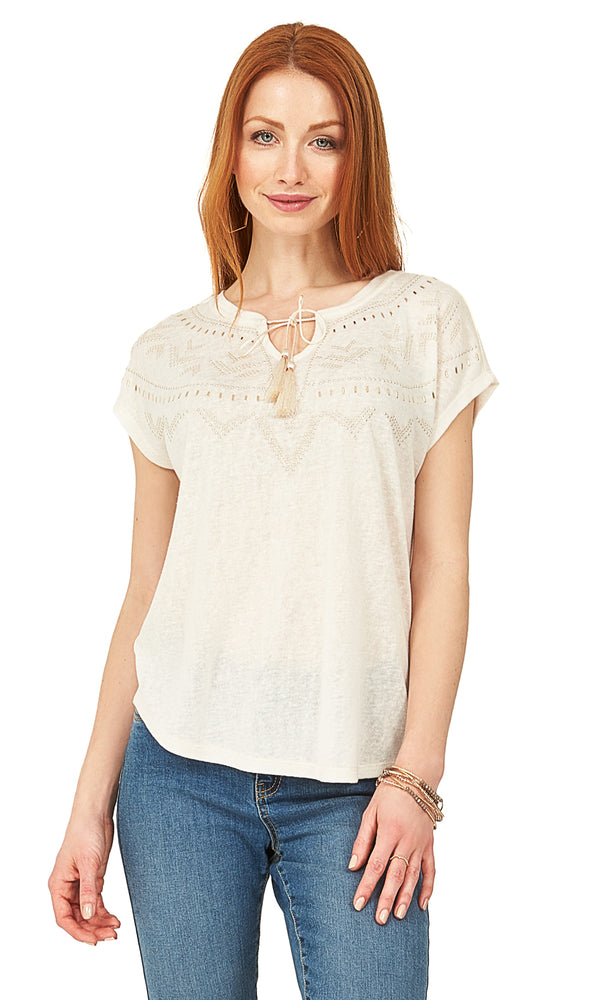 V-Neck Tassel Top