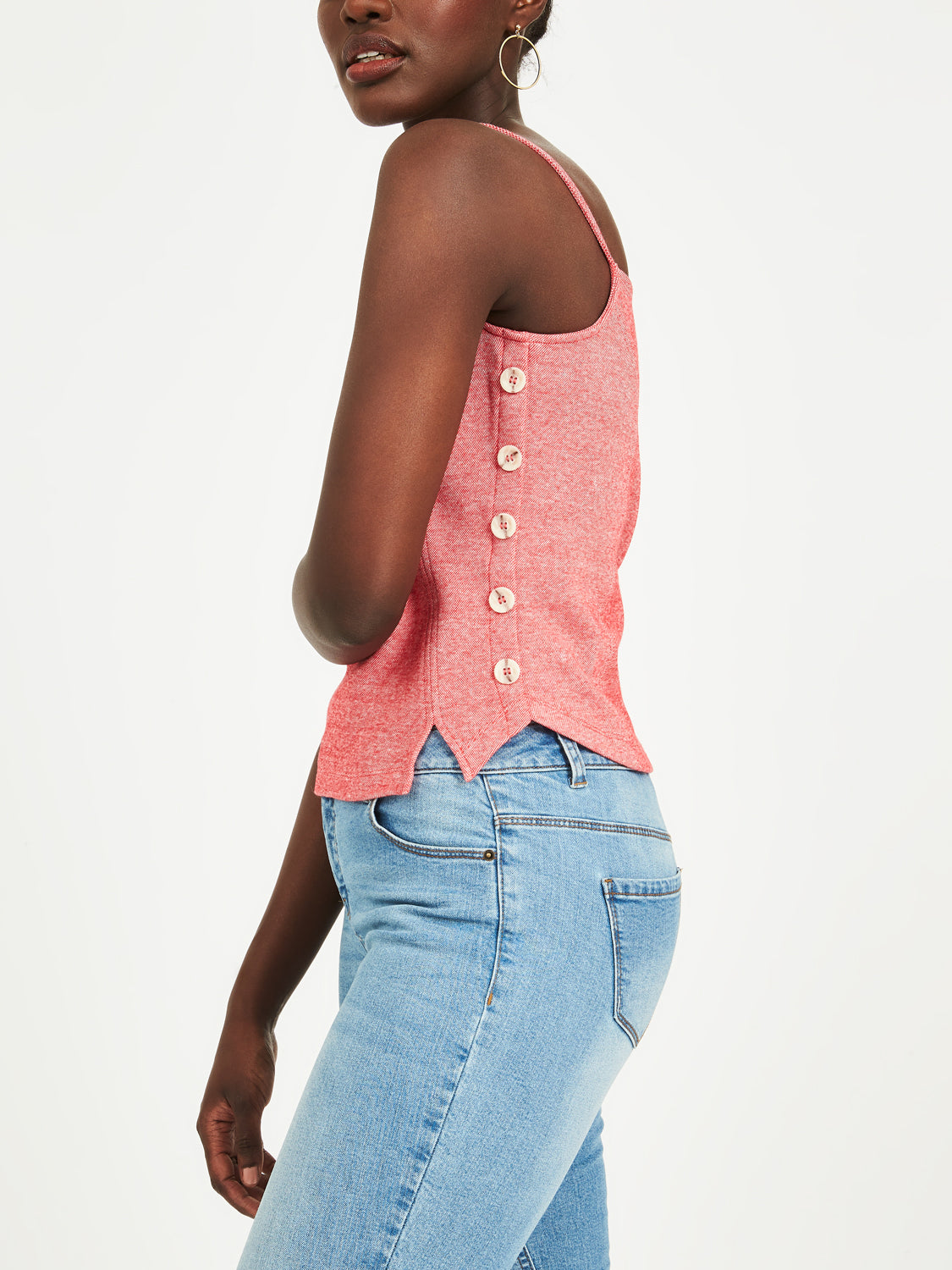 Side Button Tank Top