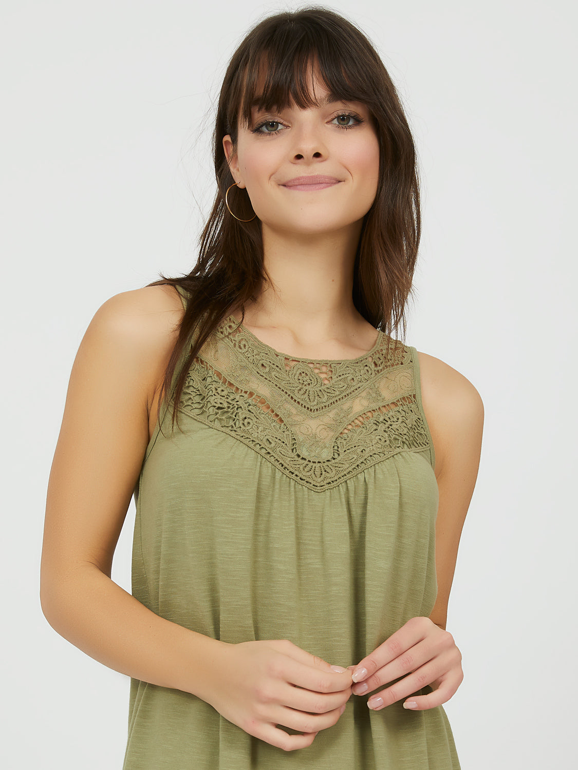 Sleeveless Crochet Tank Top