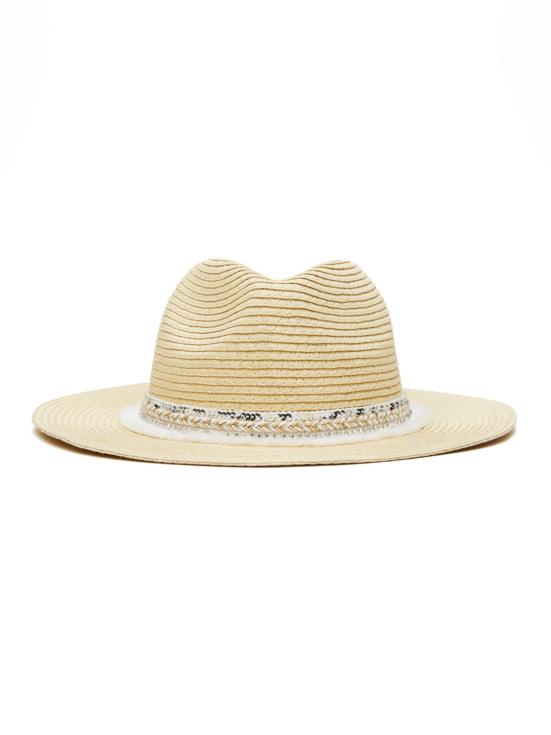 Gem Fringe Straw Hat