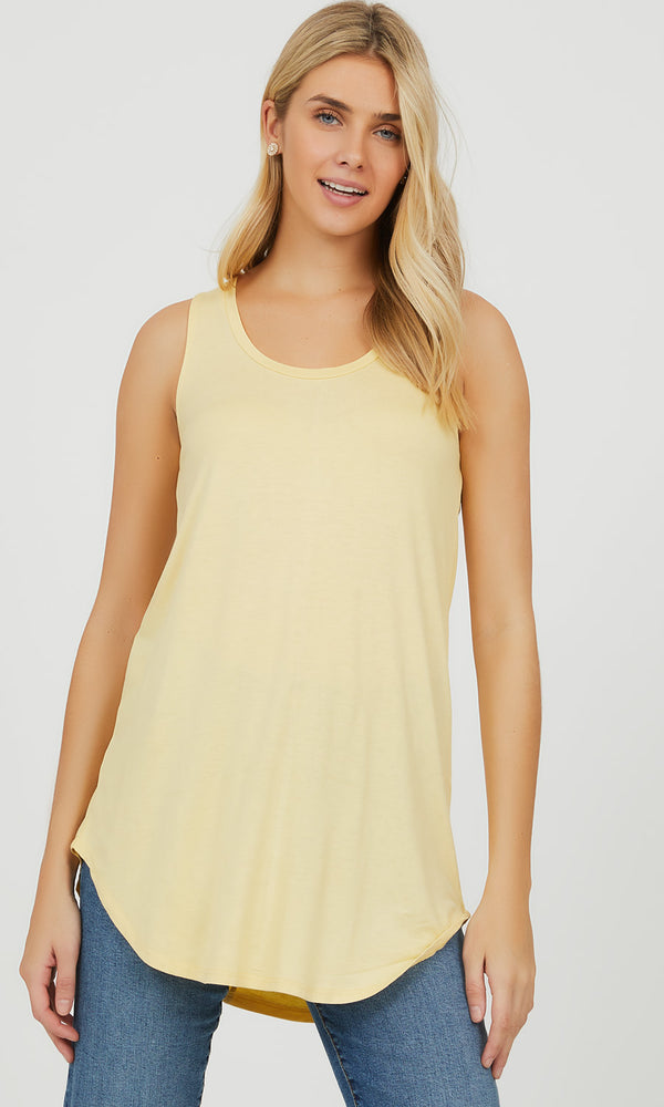 Sleeveless Scoop Neck Swing Knit Tank Top